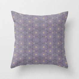 Purple Antique Whimsy Throw Pillow