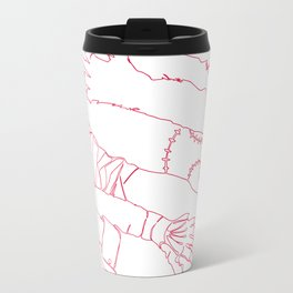 Classic Horror Hands (Red Line) Travel Mug