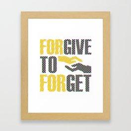 Forever To Forget Spots Framed Art Print