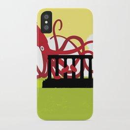 Giant Squid Attacks Edinburgh's Acropolis iPhone Case