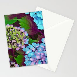 Hydrangea Pink and Blue Stationery Cards
