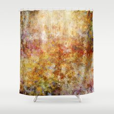 Mod Nature Trail Multicolor Pattern Shower Curtain