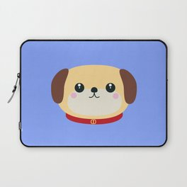 Cute puppy Dog with red collar Laptop Sleeve