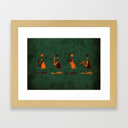 Forms of Prayer - Green Framed Art Print