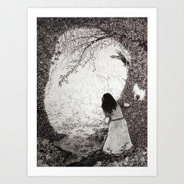 Wendy in Neverland Art Print