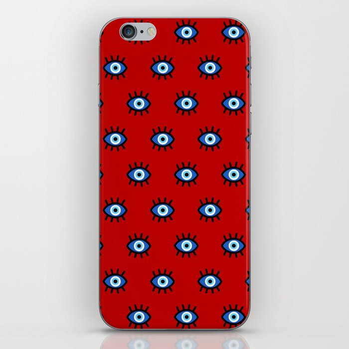 Evil Eye on Red iPhone Skin