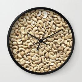 Cashew. Background Wall Clock