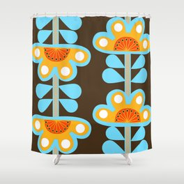 swedish flowers Shower Curtain