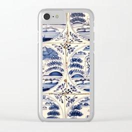 Dutch Delft Blue Tiles Clear iPhone Case