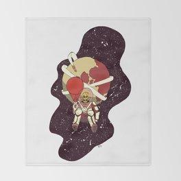 Spaceman Throw Blanket