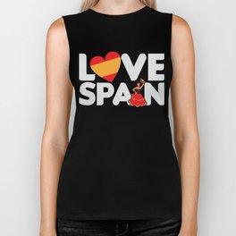 Love Spain Spanish Tourist Vacation Gift Biker Tank