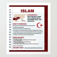 islam Art Prints featuring Islam Poster by Idle Amusement
