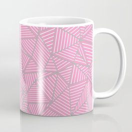 Ab Out Double Pink and Grey Coffee Mug