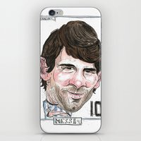 messi iPhone & iPod Skins featuring MESSI by BANDY
