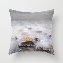 Shiny rocks at sunset Throw Pillow