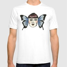 butterfly lady. Mens Fitted Tee White SMALL