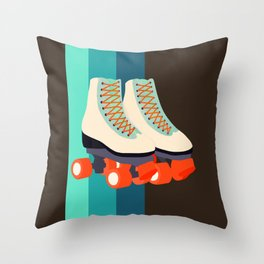 Retro Roller Skates Throw Pillow
