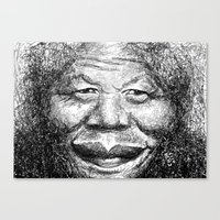 mandela Canvas Prints featuring Mandela by Chell Vassallo