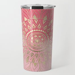 Modern  gold mandala Travel Mug