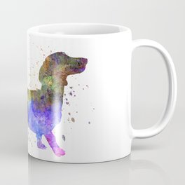 Short Haired Dachshund 01 in watercolor Coffee Mug