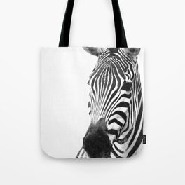 Black and white zebra illustration Tote Bag