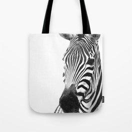 Black and white zebra illustration Tote Bag