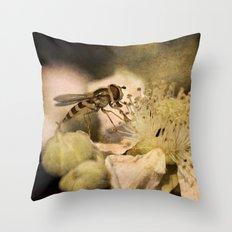 Hover Blossom Throw Pillow