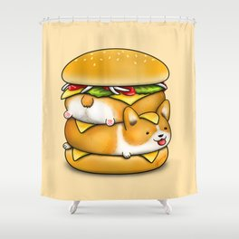 Double Corgi Pounder Shower Curtain