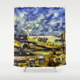 Iran Air Airbus A330 Art Shower Curtain
