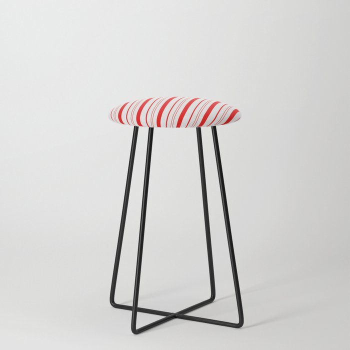 Candy Cane Stripes Counter Stool