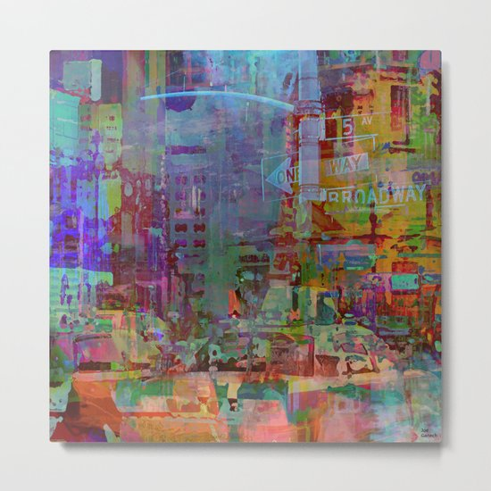 Somewhere in the city Metal Print