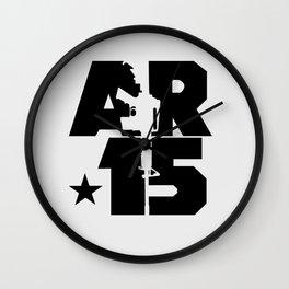 AR-15 (Silver/Black) Wall Clock
