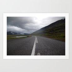 icelandic road. Art Print