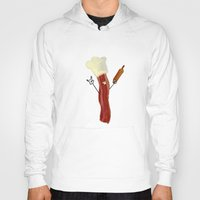 baking Hoodies featuring The Baking Bacon by Amplified27