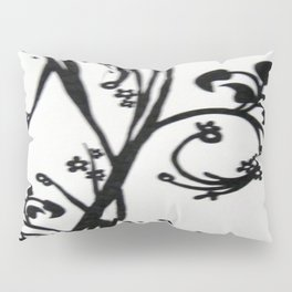 Swirl Leaves - Drawing Pillow Sham