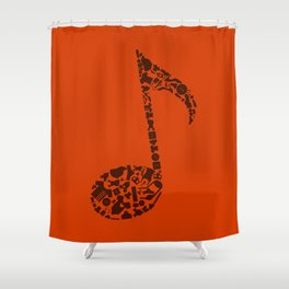 Clothes the note Shower Curtain