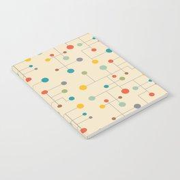 Mid-Century Dots Pattern Notebook