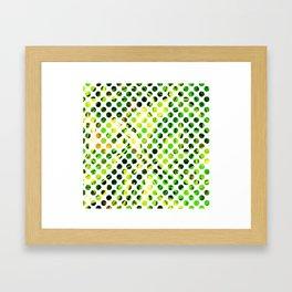 Fluid Dot (Green Version) Framed Art Print