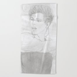 Luke 5 Seconds in Concert Drawing Beach Towel
