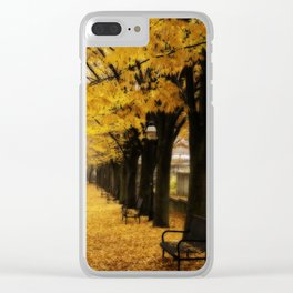 Autumn's Gold Clear iPhone Case