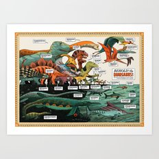 BEHOLD! THE DINOSAURS!  Art Print
