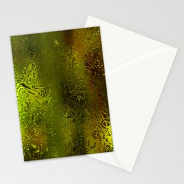Green forest liquid Stationery Cards