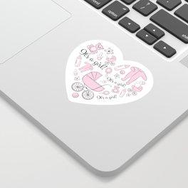 Congratulations! It's a girl! Sticker