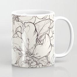 Flowering Tree Ink Illustration Coffee Mug