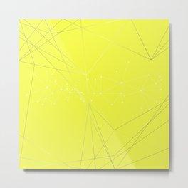 LIGHT LINES ENSEMBLE VIII YELLOW Metal Print