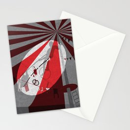 Tightrope walker Stationery Cards