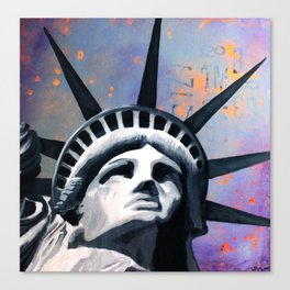 Welcome to New York Statue of Liberty Canvas Print