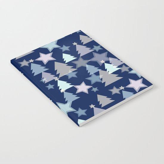Christmas Landscape blue Notebook