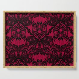 Bats and Beasts - Blood Red Serving Tray