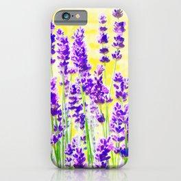 Lavender Watercolor iPhone Case